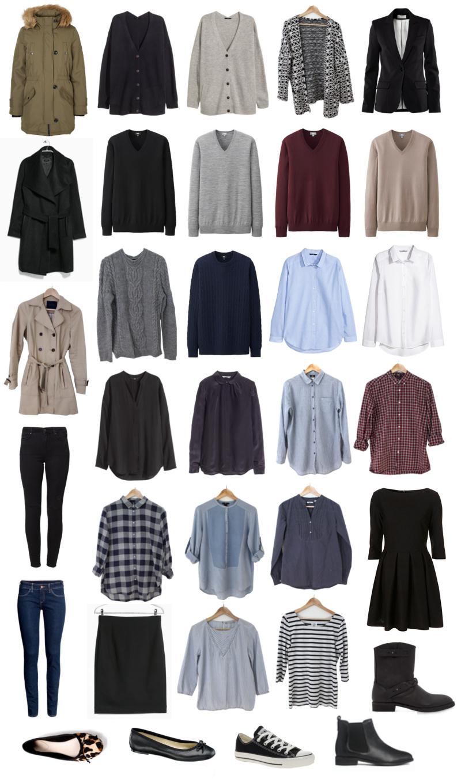 Winter Capsule Wardrobe For 2017 And 2018: Capsule Wardrobe Herbst/Winter 2015/2016